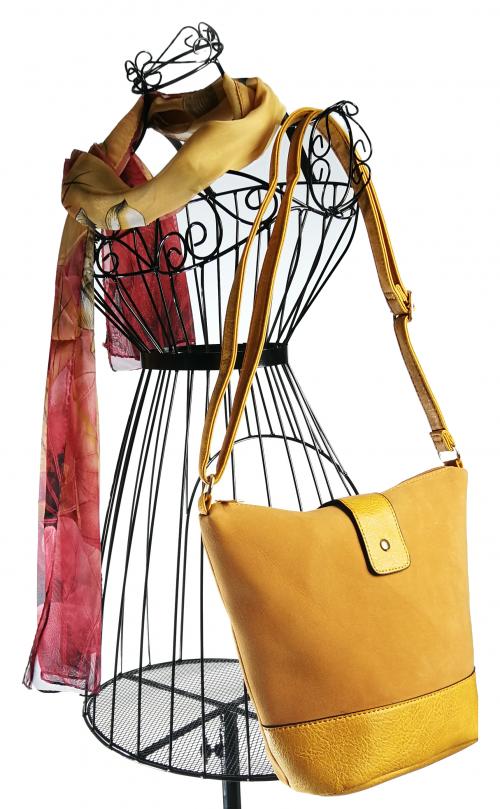 Large yellow tote bag