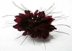 Purple Mesh Hat Feather Fascinator