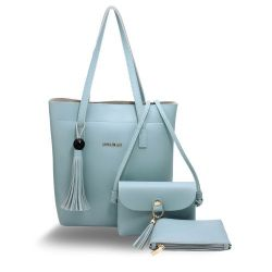 Three Piece Set Blue Women's Fashion Handbags