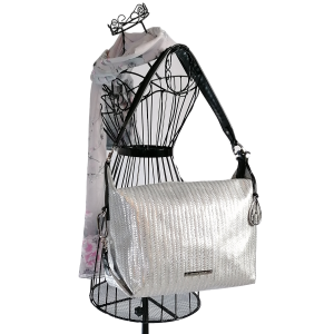 Amanda Wakeley Rowlands Hobo Bag Silver