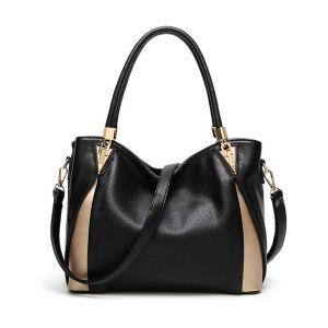 Miss Lulu Peekabo Corner Shoulder Bag in black